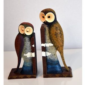 Other - Colourful Owls resins bookends